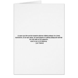 Tolstoy Vegetarian Quote Cards