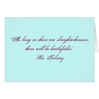 Tolstoy Vegetarian Quote Greeting Card