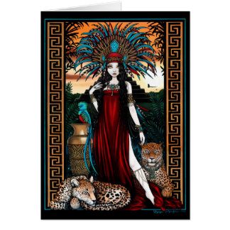 Toltec Jaguar Quetzal Priestess Zyanya Mesoamerica Card