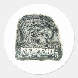 Toltec Spirit Classic Round Sticker