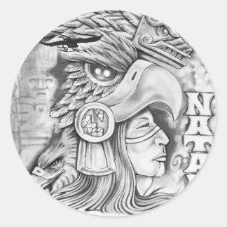 Toltec Warrior Classic Round Sticker