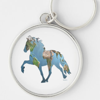Tolting the World Keychain