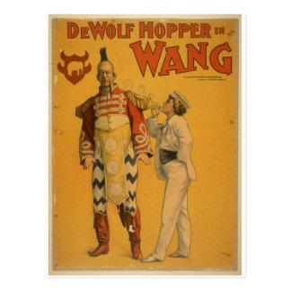 "Tolva de DeWolf en teatro del vintage de ""Wang"" Tarjeta Postal"