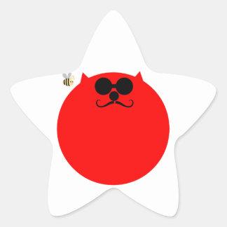 Tolva Kat del espacio Calcomanías Forma De Estrellas