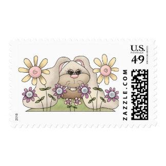 Tolvas de la abrazo • Conejito con las flores Franqueo