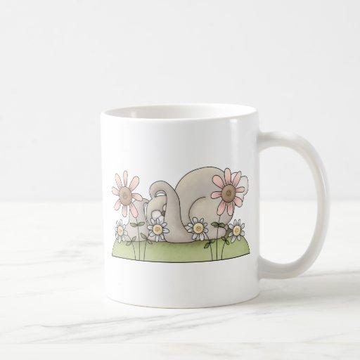 Tolvas de la abrazo • Conejito gris el dormir Taza De Café