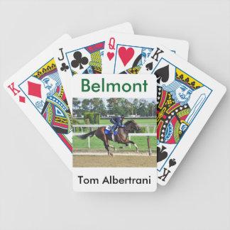 Tom Albertrani Morning Workouts at Belmont Bicycle Playing Cards