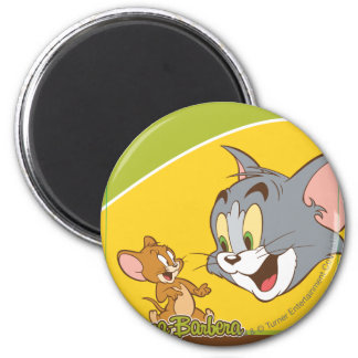 Tom And Jerry 2 Inch Round Magnet