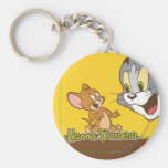 Tom And Jerry Basic Round Button Keychain