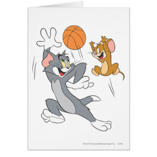 Tom and Jerry Basketball 1 Greeting Card