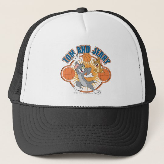 Tom and Jerry Basketball 4 Trucker Hat