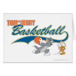 Tom and Jerry Basketball 5 Greeting Card