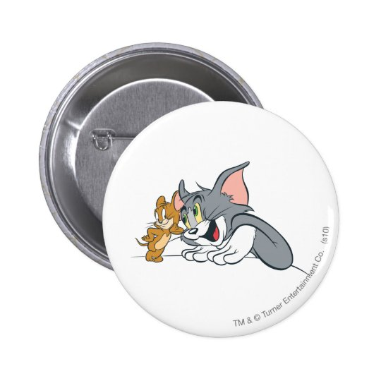 Tom and Jerry Best Buds Button