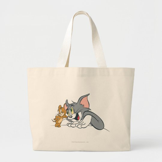 Tom and Jerry Best Buds Large Tote Bag