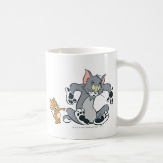 Tom and Jerry Black Paw Cat Classic White Coffee Mug