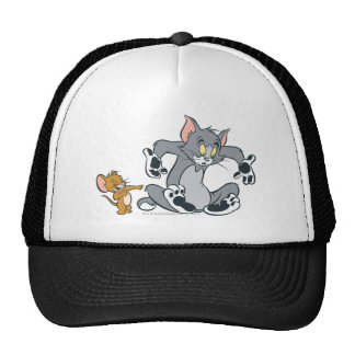 Tom and Jerry Black Paw Cat Trucker Hat