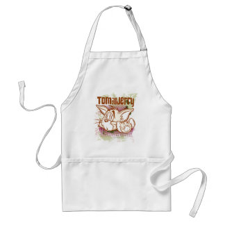 Tom and Jerry Brown and Green Adult Apron