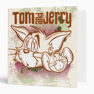 Tom and Jerry Brown and Green Binder