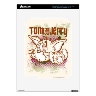 Tom and Jerry Brown and Green iPad 3 Decal