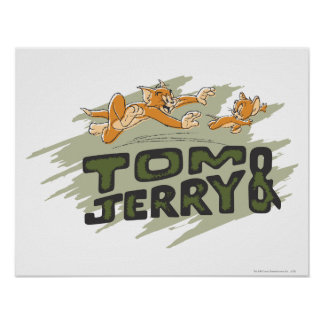 Tom and Jerry Chase Logo Posters