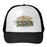 Tom and Jerry Chase Logo Trucker Hats