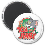 Tom and Jerry Classic Logo 2 Inch Round Magnet