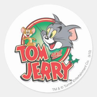 Tom and Jerry Classic Logo Classic Round Sticker