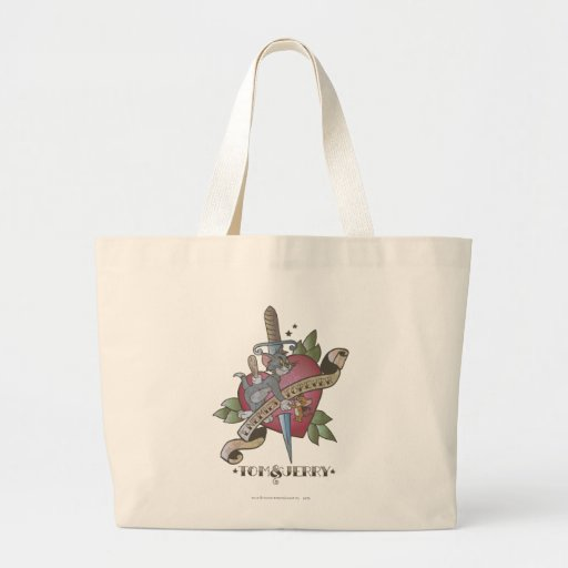 Tom and Jerry Enemies Forever 2 Large Tote Bag