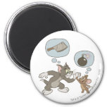 Tom and Jerry Evil Thoughts 2 Inch Round Magnet