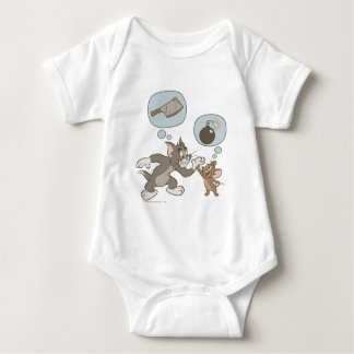 Tom and Jerry Evil Thoughts Baby Bodysuit