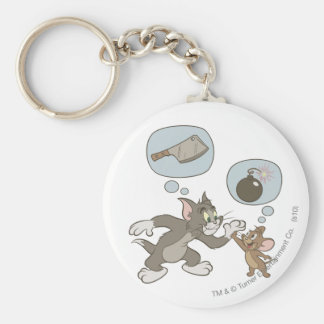Tom and Jerry Evil Thoughts Keychain