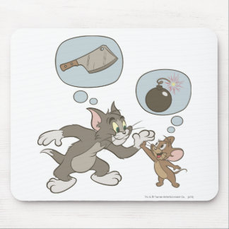 Tom and Jerry Evil Thoughts Mousepads