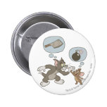 Tom and Jerry Evil Thoughts Pinback Buttons