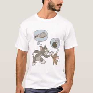 Tom and Jerry Evil Thoughts T-Shirt