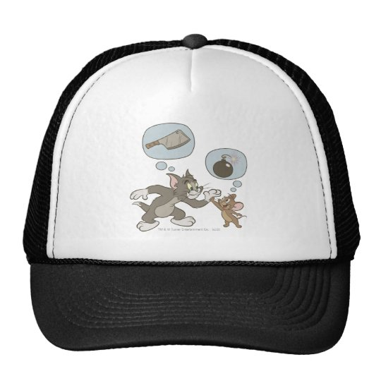 Tom and Jerry Evil Thoughts Trucker Hat