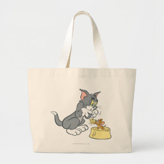 Tom and Jerry Feed The Cat Canvas Bag