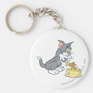 Tom and Jerry Feed The Cat Key Chains