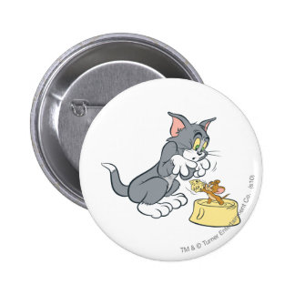 Tom and Jerry Feed The Cat Pins