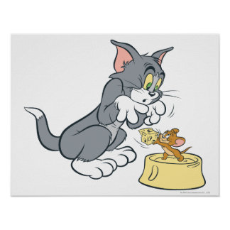 Tom and Jerry Feed The Cat Print