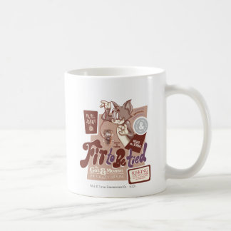 Tom and Jerry Fit To Be Tied Coffee Mug