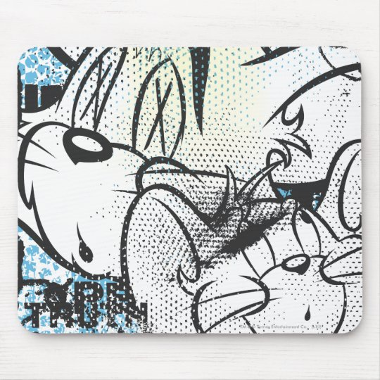 Tom and Jerry Grimey Mouse Pad
