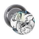 Tom and Jerry Grimey Pinback Button