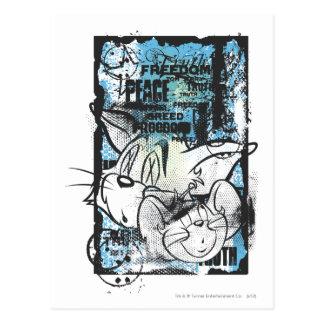 Tom and Jerry Grimey Postcard