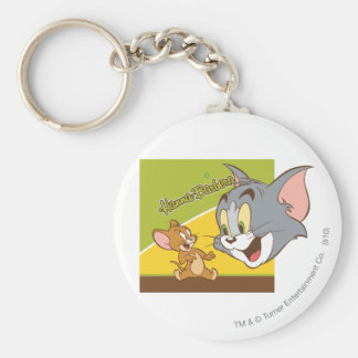 Tom and Jerry Hanna Barbera Logo Keychain