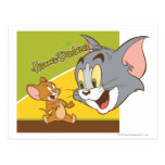 Tom and Jerry Hanna Barbera Logo Postcard