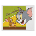 Tom and Jerry Hanna Barbera Logo Poster