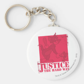 Tom and Jerry Justice The Hard Way Keychain