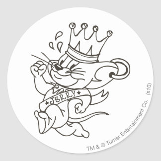 Tom and Jerry King Jerry Classic Round Sticker