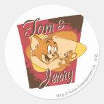 Tom and Jerry Logo 2 Classic Round Sticker
