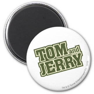 Tom and Jerry Logo 3 2 Inch Round Magnet